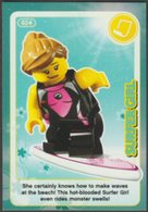 Lego Trading Card - Create The World - 024 Surfer Girl - Trading Cards