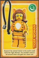 Lego Trading Card - Create The World - 026 Tiger Woman - Trading Cards