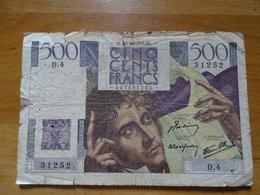 BILLET 500 BANQUE DE FRANCE CINQ CENTS FRANCS CHATEAUBRIAND 3 SIGNATURES N°31252  D4DU 4-9-1952 TYPE 1945 - - 1871-1952 Circulated During XXth