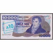 TWN - ARGENTINA 322c - 10/10000 10/10.000 Australes/Pesos 1985 Serie C - Signatures: Alonso & Concepcion UNC - Argentina