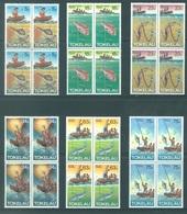 TOKELAU - MNH/** - 1982  - METHOD OF FISHING - Yv 85-90 -  Lot 18366 IN BLOC OF 4 STAMPS - Tokelau