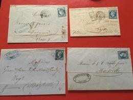 Lot De 4 Enveloppes Très Anciennes 1862/1871 Lot 215e - Sonstige