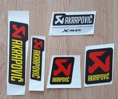 Slovenia  AKRAPOVIC  Sticker Motorcycle & Car Exhaust Systems 5 Different - Stickers