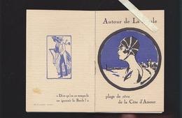 Autour De La Baule (44)  époque Art Déco - 12 Pages Illustrées Vantant Commerces De La Presqu'ile - Dépliants Touristiques