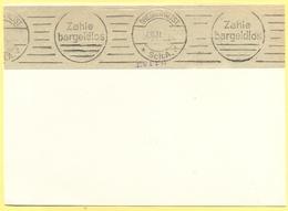 Deutsches Reich - 1931 - Flamme Dresden Zahle Bargeldlos - Fragment Over Paper - Deutschland