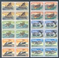 TOKELAU - MNH/** - 1983  - MARINE TRANSPORT - Yv 91-96 -  Lot 18367 IN BLOC OF 4 STAMPS - Tokelau