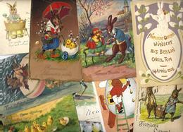 Lot 1541 De 10 CPA Fantaisies Lapins Bunny Dont Gaufrées Déstockage Pour Revendeurs Ou Collectionneurs - Postcards
