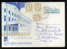 FINLANDIA 88 - WORD PHILATELIC EXIBITION - FILATELIAN MAAILMANNAYTTELY - ESPOSIZIONE FILATELICA MONDIALE - Finlandia