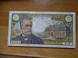 Billet, France, 5 Francs, 5 F 1966-1970 ''Pasteur'', 1966  E.12 - 5 F 1966-1970 ''Pasteur''