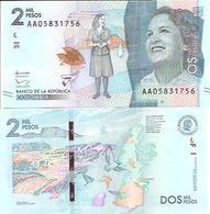 Colombia  New  2000 Pesos  2016  UNC - Colombie