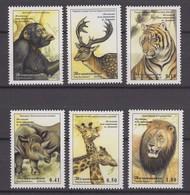 Tajikistan 29.08.2002 Mi # 220-25, 40th Anniversary Of The Dushanbe Zoo  MNH OG - Tadjikistan
