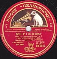 78 Trs - 30 Cm - état B - SUITE N°1 En Do Majeur (Bach) ORCHESTRE DE CHAMBRE  Direction ADOLF BUSCH - 78 T - Disques Pour Gramophone