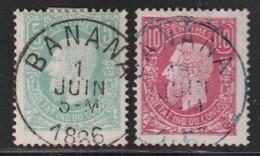 CONGO BELGE - N°1 Et 2   (1886) Oblitération : Banana - Belgisch-Kongo