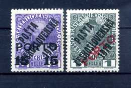 1919 CECOSLOVACCHIA Yv. 121/122 * - Cecoslovacchia
