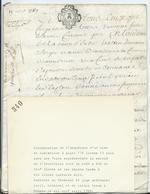 CACHET GENERALITE DE TOURS SUR PARCHEMIN DE 8 PAGES - 1769 - Cachets Généralité