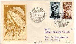 Sobre De Primer Dia 1952  Ifni Circulada - Ifni