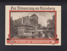 Dt. Reich AK Zur Erinnerung An Nürnberg Die Stadt Der Reichsparteitage 1936 - Partidos Politicos & Elecciones