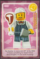 Lego Trading Card - Create The World - 028 Butcher - Altri