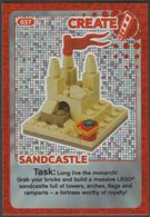 Lego Trading Card - Create The World - 037 Sandcastle - Trading Cards