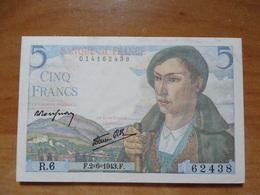 Billet, France, 5 Francs,  2-6-43 - 1871-1952 Anciens Francs Circulés Au XXème