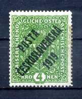 1919 CECOSLOVACCHIA Yv. 60 * - Cecoslovacchia