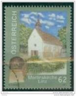 2013 -  3104 - ° -  Gedenkstein Und Martinskirche, Linz - 1945-.... 2. Republik