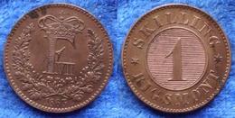 DENMARK - 1 Skilling Rigsmont 1863 KM# 763 Frederik VII (1854-1863) Bronze - Edelweiss Coins - Danemark