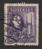 MiNr. 46 Slowakei / 1939, 12. Sept./1941. 10. Todestag Von Jozef Murga∏. - Gebraucht