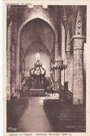 Cp , 63 , CHAURIAT , Intérieur De L'Église , Monument Historique (XIIe S.) - France
