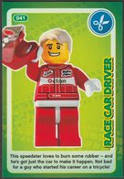 Lego Trading Card - Create The World - 041 Race Car Driver - Trading Cards