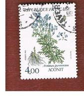 FRANCIA (FRANCE) -   SG 2586     -      1983  FLOWERS: ACONITE  -  USED - Gebraucht