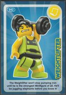 Lego Trading Card - Create The World - 042 Weightlifter - Trading Cards