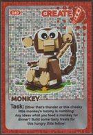 Lego Trading Card - Create The World - 049 Monkey - Trading Cards