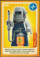 Lego Trading Card - Create The World - 050 Welder - Trading Cards