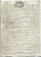 CACHET GENERALITE DE TOURS SUR PARCHEMIN DE 4 PAGES - 1690 - Cachets Généralité
