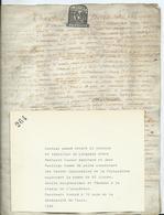 CACHET GENERALITE DE TOURS SUR PARCHEMIN DE 4 PAGES - 1686 - Cachets Généralité