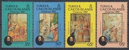 TURKS AND CAICOS 786-789,unused,Christmas 1987 - Turks And Caicos