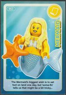 Lego Trading Card - Create The World - 053 Mermaid - Trading Cards