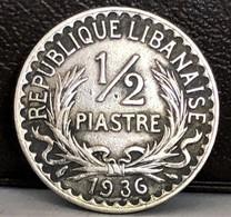 Lebanon, 1/2 Ghirsh / Piastre 1936 Cooper-nickel - Liban