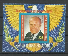 GUINEA EQUATORIAL 1975 Block Michel 175 USA President Gerald Ford MNH - Äquatorial-Guinea