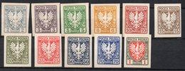 Pologna 1919  N. 54 - 64 Unificato Y&T Nuovi Perfetti - Unused Stamps