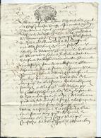 CACHET GENERALITE DE TOURS SUR PAPIER  DE 8 PAGES - 1686 - Cachets Généralité