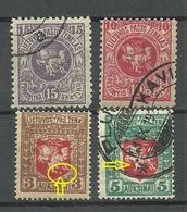 LITAUEN Lithuania 1919 Michel 30 - 31 Etc Incl ERROR Abart Variety O/* - Lituanie