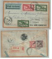 Erinnophilie Lettre TONKIN HAI-PHONG  VIA AIR ORIENT SAÏGON PARIS Etour De Poste Aérienne Indo-chine 1933  Dec 2018 594 - Indochine (1889-1945)