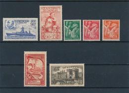 FRANCE - LOT DE 7 TIMBRES NEUFS* AVEC CHARNIERE - COTE YT : 5€80 - 1939 - France