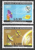 Honduras 1968 ITU UIT Internationale Fernmeldeunion Michel No. 720-21 Mint MNH Postfrisch Neuf ** - Honduras