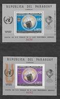 #B63A# PARAGUAY MICHEL BL 75-76 MNH**. SPACE. - Paraguay