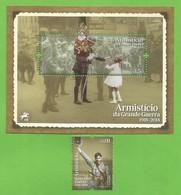 Portugal  2018  Mi.Nr. 4424 + (436) , Armisticio Da Grande Guerra - Sheet + Stamp - Postfrisch / MNH / (**) - 1910-... Republic