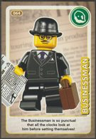 Lego Trading Card - Create The World - 064 Business Man - Trading Cards