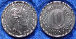 DENMARK - 10 Kroner 1979 B B KM# 864.1 Margrethe II (1972) - Edelweiss Coins - Danemark